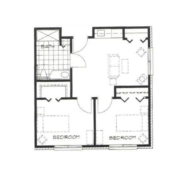 Two Bedroom <span>1260sf</span>